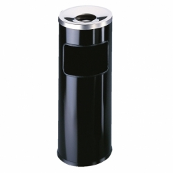 Kosz na śmieci z popielnicą Durable 17 litrów czarny