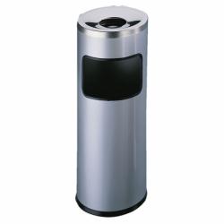 Kosz na śmieci z popielnicą Durable 17 litrów srebrny