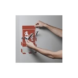DURAFRAME SECURITY A4 Dwukolorowa magnetyczna ramka informacyjna do znaków bezpieczeństwa, op. 5 szt.