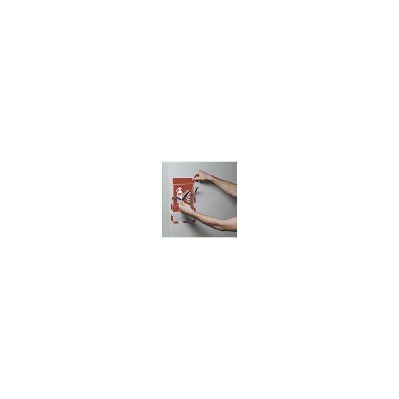 Ramka magnetyczna Duraframe Security A4 czerwona/biała, opak. 5 szt.