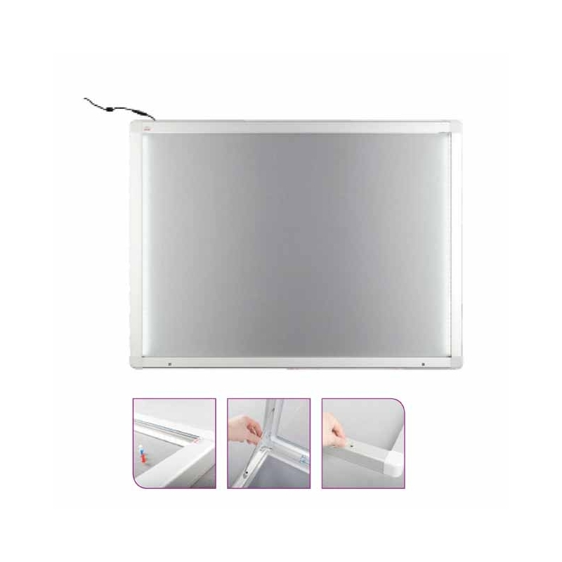 Gablota informacyjna podświetlana tekstylna 150x100cm