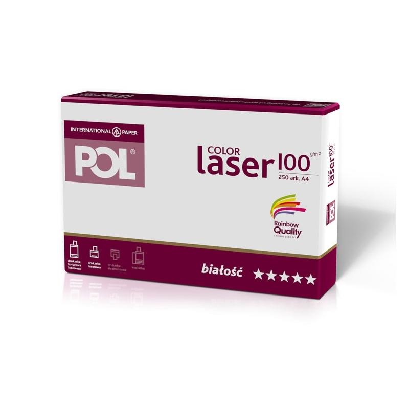 Papier satynowany POL Color Laser 100g A4, 250 ark.