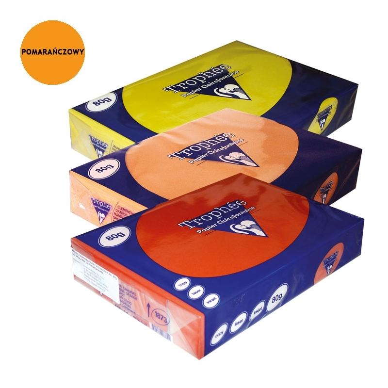 PAPIERY KOLOROWE INTENSYWNY TROPHEE A4, 80 G pomaraナ�czowy