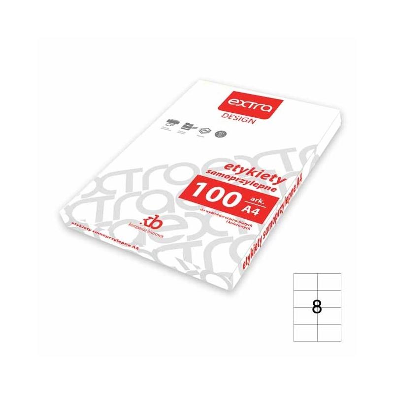 Etykiety samoprzylepne uniwersalne A4 Extra 100 ark., 105x74 mm