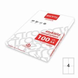 Etykiety samoprzylepne uniwersalne A4 Extra 100 ark., 105x148 mm