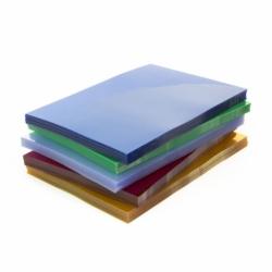 Okładki przezroczyste do bindowania Prestige, 100 szt. A4, 0,20 mm czerwona