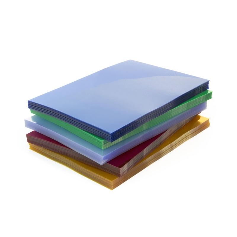 OkナBdki przezroczyste do bindowania Prestige, 100 szt. A4, 0,20 mm niebieska