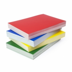 Okładki błyszczące do bindowania Chromolux, 100 szt. biały, karton 250g