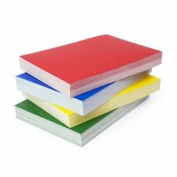 Okładki błyszczące do bindowania Chromolux, 100 szt. żółty, karton 250g