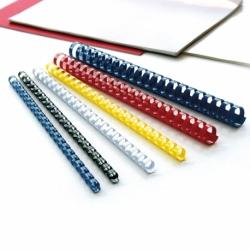 Grzbiety do bindowania plastikowe 8mm, 100 szt. czerwony