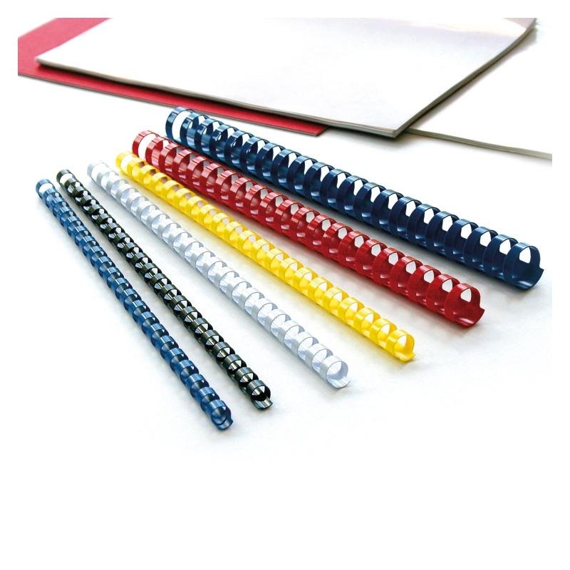 Grzbiety do bindowania plastikowe 14mm, 100 szt. biaナZ