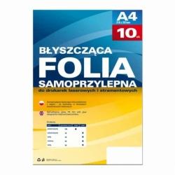 Folia samoprzylepna Argo op.10szt 80mic biała