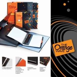Kołonotatnik Mintra Orange A5+/90k kratka, okładka PP, 1 przekładka