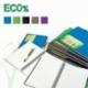 KoナPnotatnik Mintra Eco% A5/80 kratka, okナBdka plastikowa, mix kolorテウw