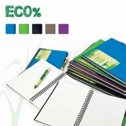 Kołonotatnik Mintra Eco% A5/80 kratka, okładka plastikowa, mix kolorów