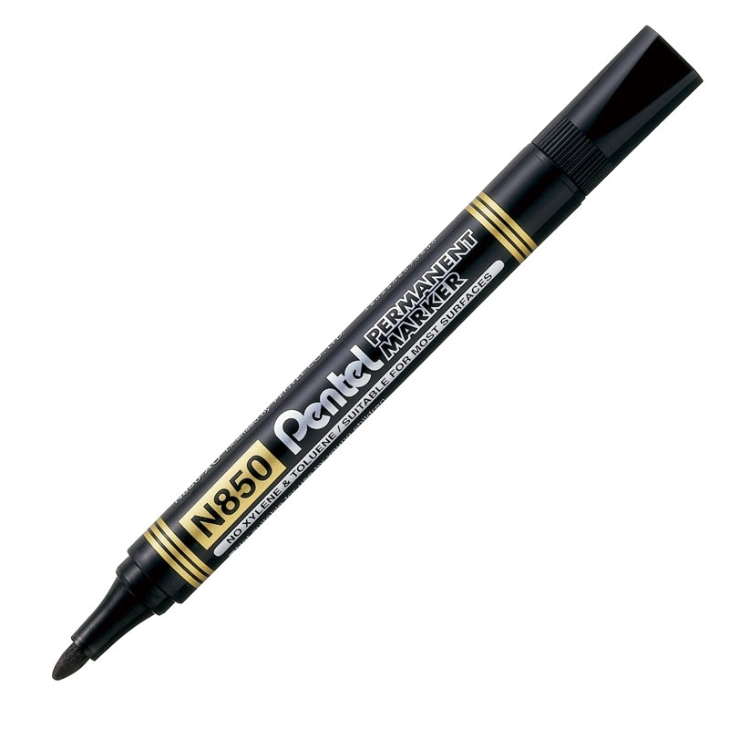 Marker permanentny Pentel N850 czarny, okrト�gナて� koナ�cテウwka