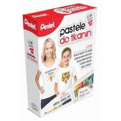 Zestaw kreatywny pastele Pentel + koszulka 15 kolorów