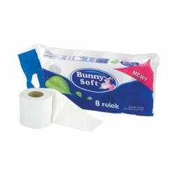 Papier toaletowy Bunny Soft biały, dwuwarstwowy, 180 listków, opak.8 rolek