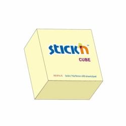 Kostka samoprzylepna Stick?N duża 400 karteczek, 76x76 mm, żółty pastelowy