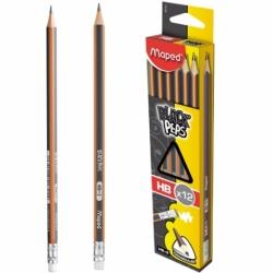 Ołówek Maped BlackPeps HB z gumką