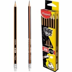 Ołówek Maped BlackPeps 2B z gumką