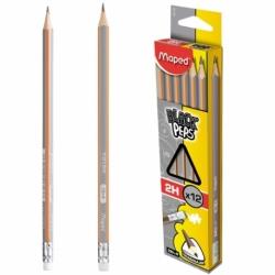 Ołówek Maped BlackPeps 2H z gumką