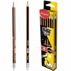 Ołówek Maped BlackPeps B z gumką