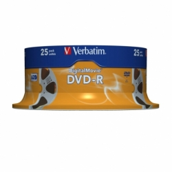 Płyta DVD R Verbatim AZO matt silver cake box 25 szt.
