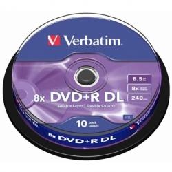Płyta DVD+R Verbatim DL AZO matt silver cake box 10 szt.