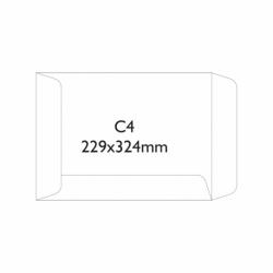 Koperty samoklejące SK C4, 229 x 324 mm brązowy, 250 szt.