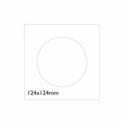 Koperty na CD, białe, 127 x 127 mm, 100 szt.