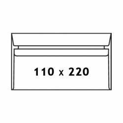 Koperty samoklejące SK DL, 110 x 220 mm biały, 50 szt.