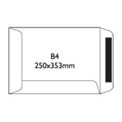 Koperty samoklejące SK B4, 250 x 353 mm biały, 50 szt.