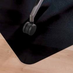 Mata podłogowa 120 x 90 cm czarna na podłogę twardą