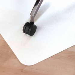 Mata podłogowa 120 x 90 cm biała na podłogę twardą