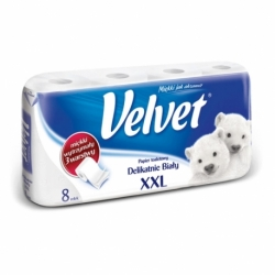 Papier toaletowy Velvet biały, opak.8 rolek