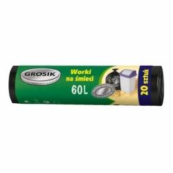 Worki na śmieci HD Grosik 60 L, 20 szt. czarne