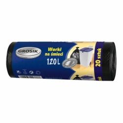 Worki na śmieci HD Grosik 120 L, 20 szt. niebieskie
