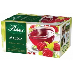 Herbata Bifix Premium Malinowa 20 torebek z zawieszką