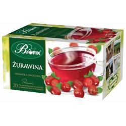 Herbata Bifix Premium Żurawinowa 20 torebek z zawieszką
