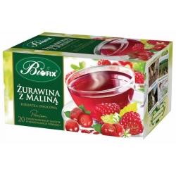 Herbata Bifix Premium Żurawina + malina, 20 torebek z zawieszką