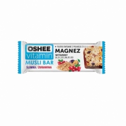 Baton owocowy OSHEE Vitamin 40g, śliwka / żurawina