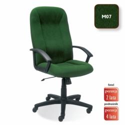Fotel gabinetowy MEFISTO welur zielony