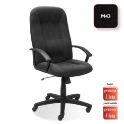Fotel gabinetowy MEFISTO welur czarny