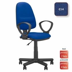 Krzesło obrotowe Perfect GTP splot czarno-granatowy, CU-14