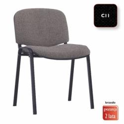 Krzesło konferencyjne ISO Black splot czarny, CU-11