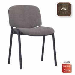 Krzesło konferencyjne ISO Black splot brązowy, CU-24