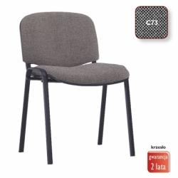 Krzesło konferencyjne ISO Black splot czarno-szary, CU-73