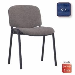 Krzesło konferencyjne ISO Black splot czarno-granatowy, CU-14