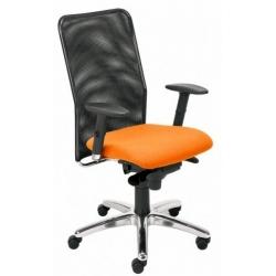 Krzesło TAKTIK oparcie czarne, siedzisko pomarańczowe EF-808